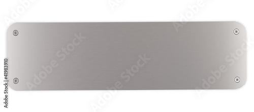 Valokuva  plaque métal aluminium rectangulaire et vis