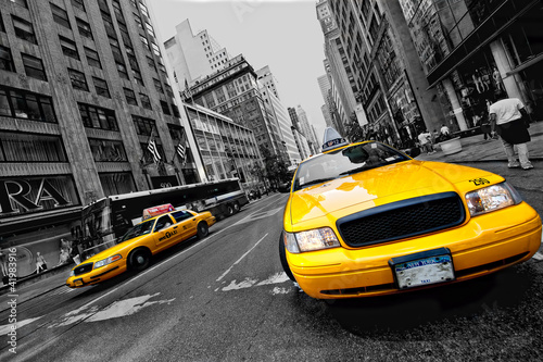 Tuinposter New York TAXI Circulation à new york