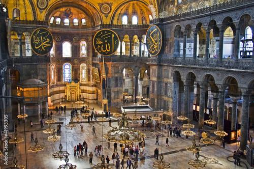 Poster Turquie Nef de la basilique Sainte Sophie, Istambul - Turquie