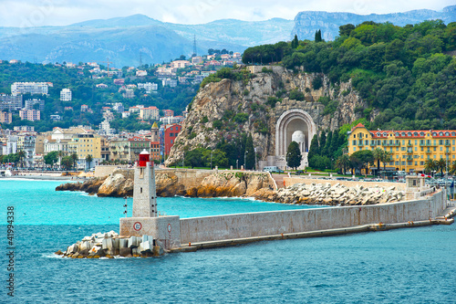 Foto-Flächenvorhang - view of mediterranean resort, Nice, Cote d'Azur, France (von LiliGraphie)