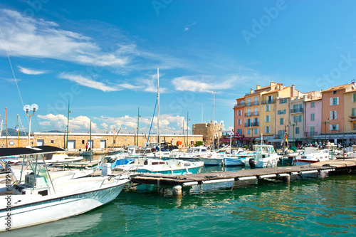 Valokuva harbor view of Saint-Tropez, french riviera