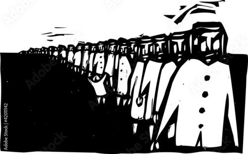 Fotografia, Obraz Line Up