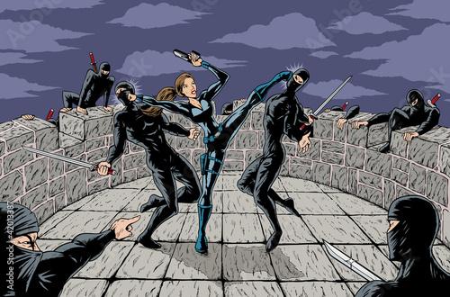 In de dag Art Studio Ninja Attack
