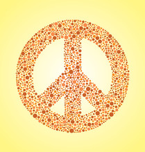 Peace Sign In Colorblind Dot Effect