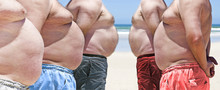 Five Very Obese Fat Men On The...
