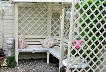 Pretty Painted Arbour