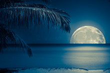 Moon Reflected On The Water Of...