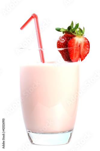 Foto op Plexiglas Milkshake Erdbeershake
