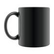 Tasse mit Henkel schwarz