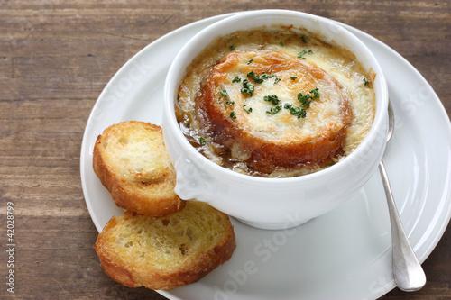 Fototapeta french onion gratin soup obraz