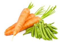 Carrots And Peas Pod