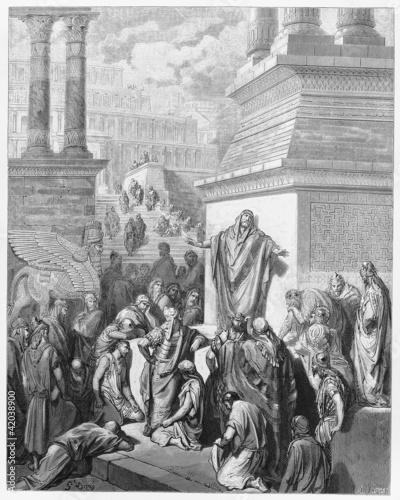 Fotografie, Obraz Jonah preaching to the Ninevites