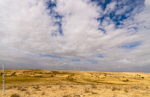 Papiers peints Beige Desert with a blue sky