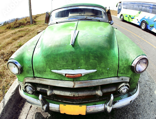 Wall Murals Cars from Cuba Classic old car