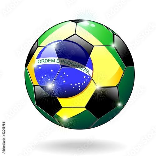 Pallone Calcio Brasile 2014-Brazil 2014 Soccer Ball-Vector