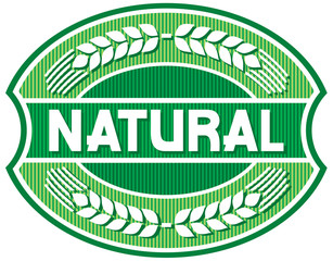 Naklejkanatural label