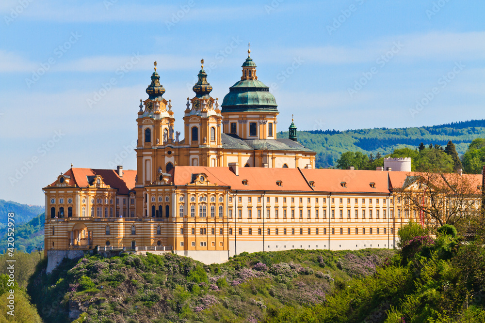 Fototapety, obrazy: Melk - Famous Baroque Abbey (Stift Melk), Austria