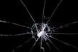 Leinwanddruck Bild - cracked glass