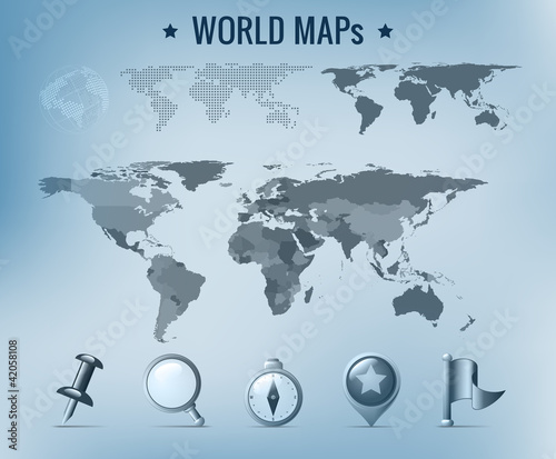 World map vector political dotted solid navigation icon pack world map vector political dotted solid navigation icon pack gumiabroncs Images