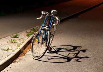 Fototapeta na wymiar Bike with shadow