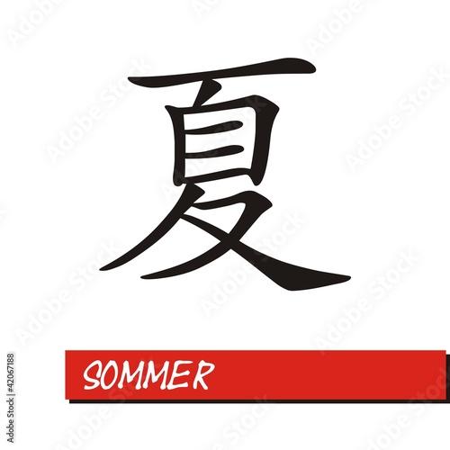 Fotografija  Chinesisches Zeichen Printed Style - Sommer