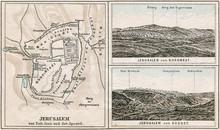 Map Of Jerusalem And Surroundi...