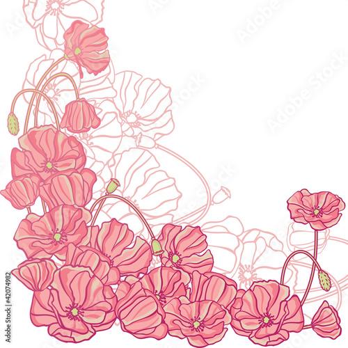 Keuken foto achterwand Abstract bloemen Floral background with hand draun flowers. Vector illustration.