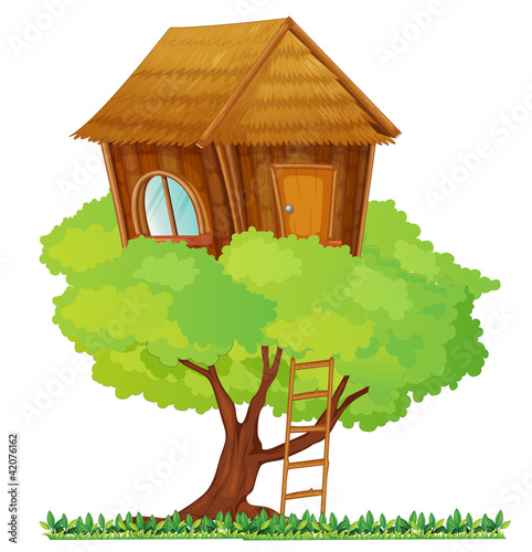 La pose en embrasure Forets enfants tree house