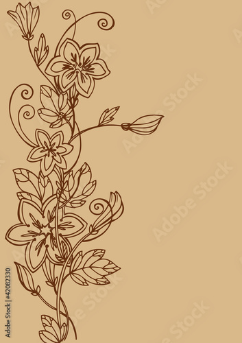 Fototapety, obrazy: Flower background