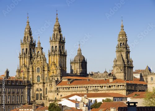 Cathedral of Santiago de Compostela in Galicia, Spain. Fototapet