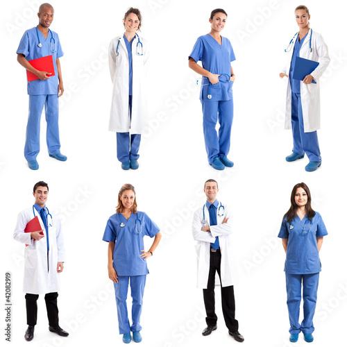 Plakaty o zdrowiu   pracownicy-medyczni