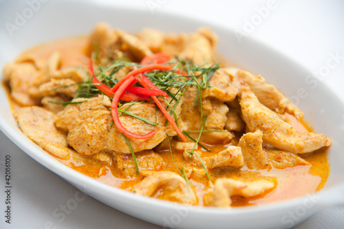 Dried red pork coconut curry (Panaeng) : Famous Thai food Canvas Print
