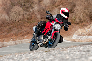 Fototapetaturist biker