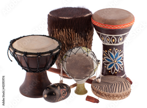 Fotografía  African ethnic drums from different countries