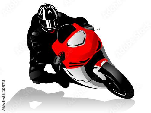 Poster Motocyclette Motorcycle racer