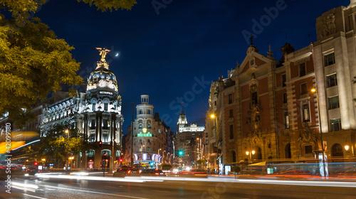 Poster Madrid Madrid by night