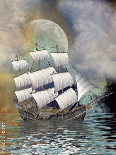 Naklejki dla dzieci  stary-statek