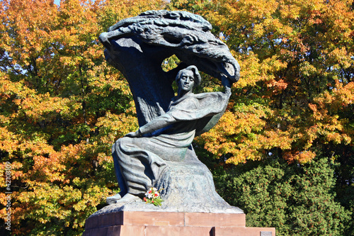 Chopin monument in Poland in Warsaw - 42108109