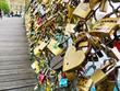 canvas print picture - Paris, Frankreich. Symbole der Liebe