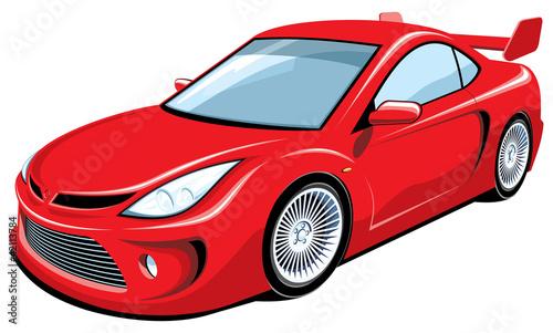 wektor-odizolowywajacy-czerwony-sporta-samochod
