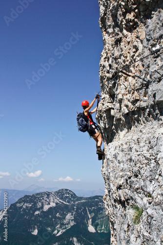 Foto op Plexiglas Alpinisme Klettersteig