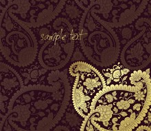Traditional Paisley Floral Pattern , Template , Rajasthan, Royal India