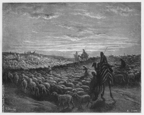 Abraham Journeying into the Land of Canaan Fotomurales