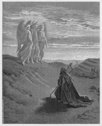 Abraham and the Three Angels Fotomurales