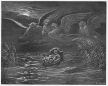Moses On The River Nile In A Basket