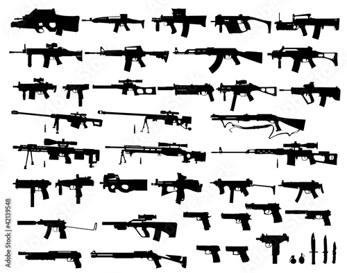 Fotografie, Obraz weapon vector pack