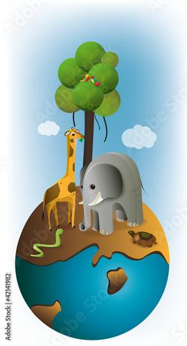 Poster de jardin Zoo animals