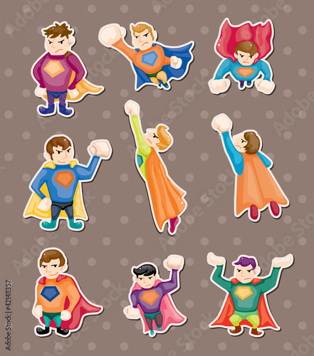 Poster Superheroes superman stickers