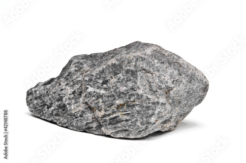 Rock boulder isolated on white Canvas Print
