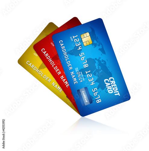 Fotografía  Credit Card Isolated